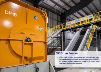 CP Drum Feeder for Material Recovery Facilities