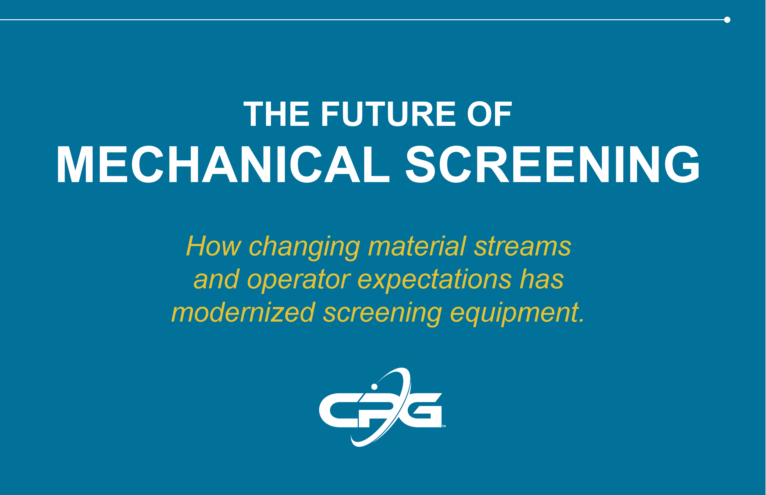 Cover photo for webinar: The Future of Mechanical Screening