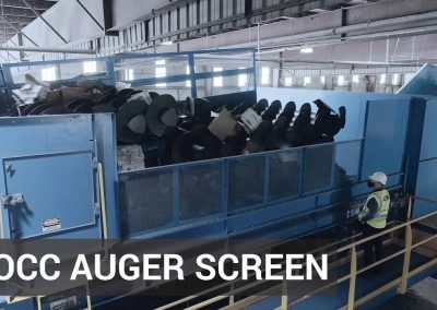 New Patented OCC Auger Screen